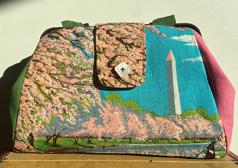 Washington DC Tea Towel bag with Cherry Blossoms (Evelyn)