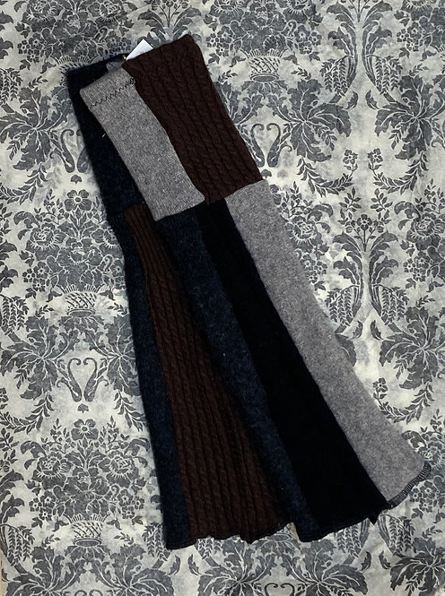 100% cashmere chunky black brown and grey II