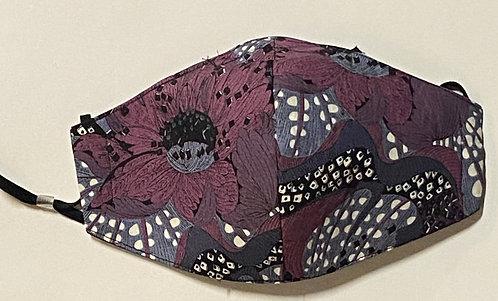 purple liberty cotton mask