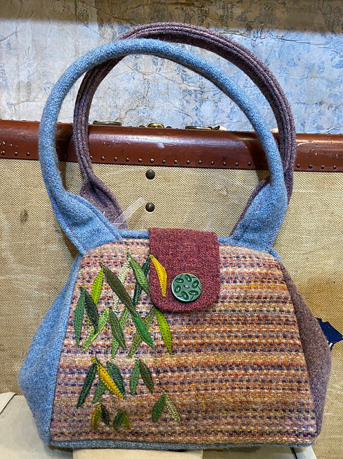 Handwoven muted dot bag
