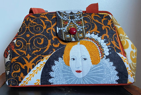 Queen Elizabeth evelyn tea towel bag
