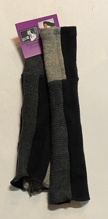 black & grey I fingerless gloves