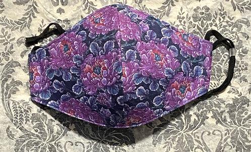 purple peonies mask