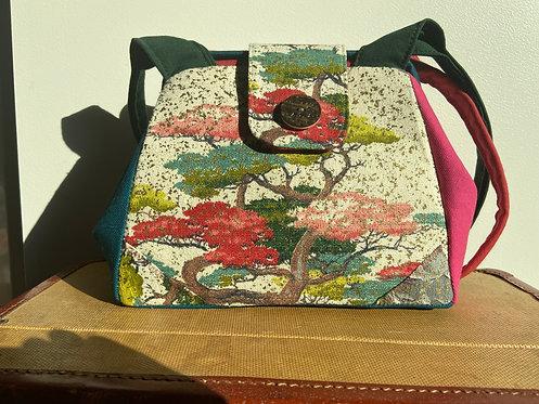 Bonsai tree barkcloth dot bag