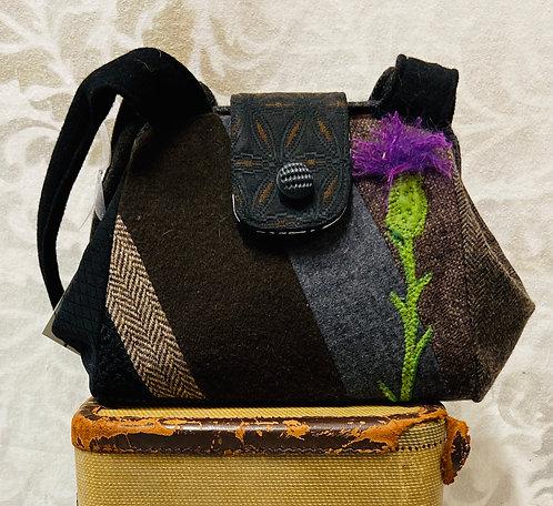 black, brown & grey everyday bag