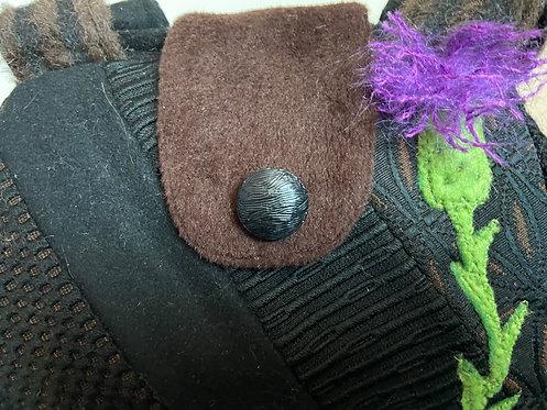 Black and brown textural dot bag