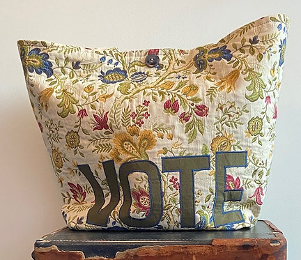 brocade and toile VOTE tote
