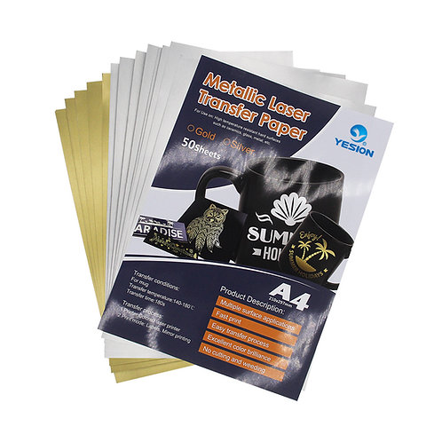 A4 Metallic Laser Transfer Paper Pack of 10