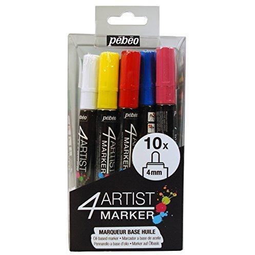 Pebeo 4Artist Marker Set, 10 x 4mm