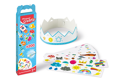 Maped Creativ -Kit of 200 Multi-Themed Stickers for Girls and Boys