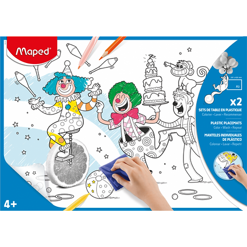 Maped Plastic Coloring Sheets