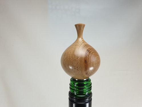 Stainless Steel Bottlestopper with Elm Top