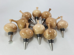 Bottlestoppers with Irish Hardwood Tops