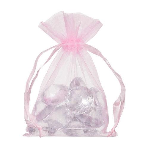 Organza Light Pink Gift Bag 10x15cm 10 Pack