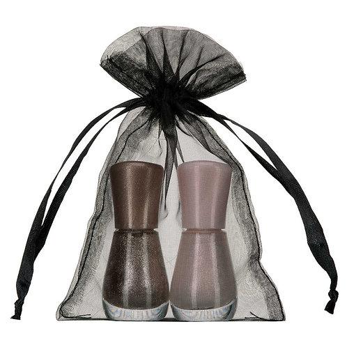 Organza Black Gift Bag 15x20cm 10 Pack