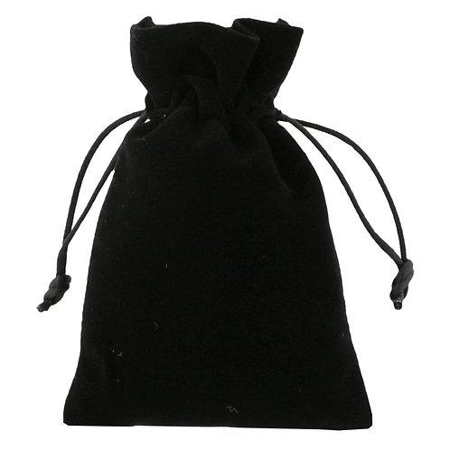 Black Velvet Drawstring Bags 100mm x 150mm 10 Pack