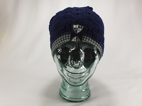 Reversible Navy Slouch Beanie