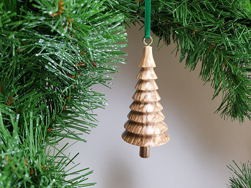 Hanging Ornament in Spalted Beech with free organza gift bag