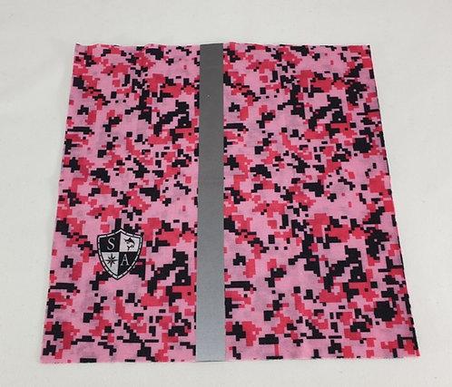 Pink Digi Camo Dog Shield with Reflective Strip