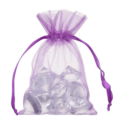 Organza Purple Gift Bag 10x15cm 10 Pack