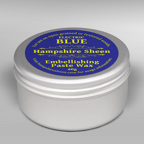 Hampshire Sheen Electric Blue Embellishing Wax 60g