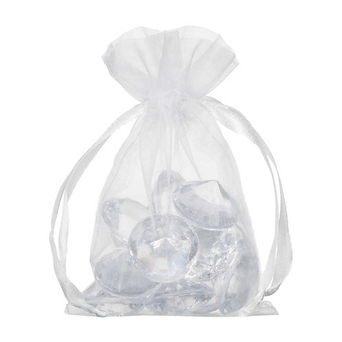Organza White Gift Bag 10x15cm 10 Pack