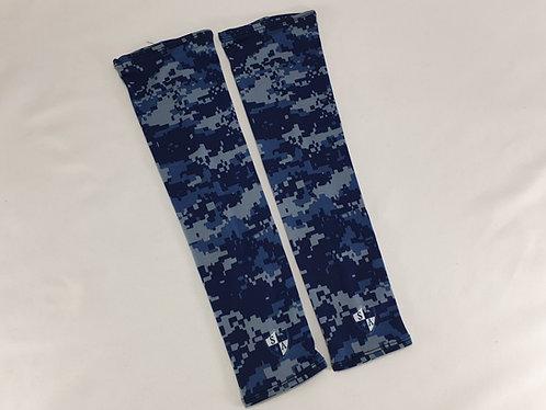 Blue Digi Camo Pair of Arm Sleeves