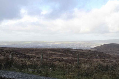 Short Mountain view of Tralee in the distance.JPG