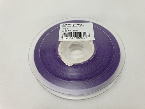 Purple Satin Ribbon 3mm x 50m