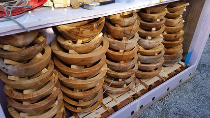 Sauno Kiln Loaded with bowls