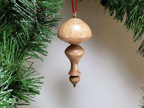 Hanging Ornament in Beech with free organza gift bag
