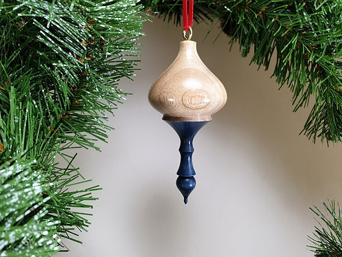 Hanging Ornament in Olive Ash with free organza gift bag