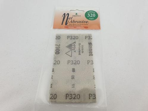 Chestnut Net Abrasive 320 Grit 5 Sheet Pack