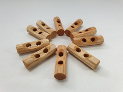 Hardwood Toggle Buttons