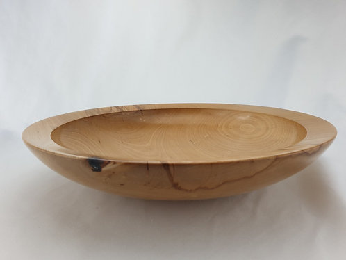 Large Shallow Food-Safe Bowl in Beaufort Beech