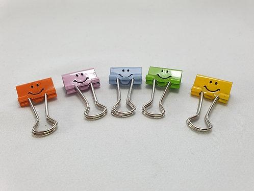 Smiles Foldback Clip 19mm x 5 Pack