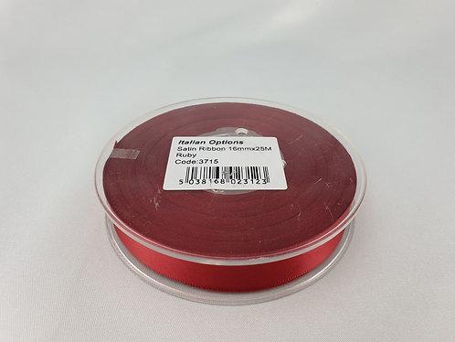 Ruby Satin Ribbon 16mm x 25m