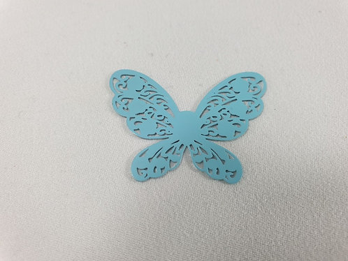 Blue metal stencil butterfly Pack of 10