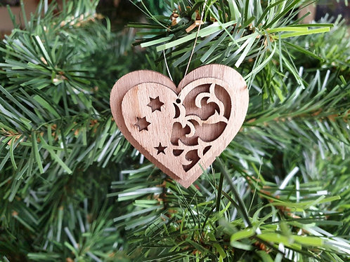 Mini Wood Rustic Christmas Tree Decorations