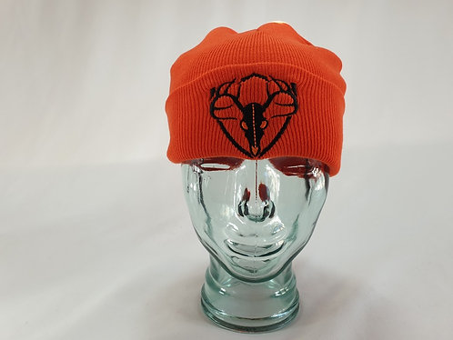 Black Shot Orange Beanie