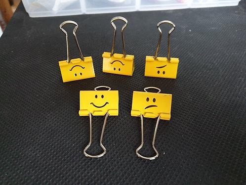 Emoji Foldback Clip 32mm x 5 Pack