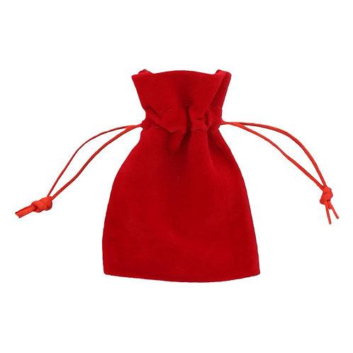 Red Velvet Drawstring Bags 75mm x 100mm 10 Pack
