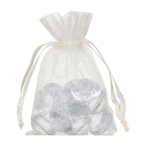 Organza Ivory White Cream Gift Bag 10x15cm 10 Pack
