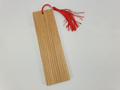 Bookmark in Ash Hardwood with Red Tassel
