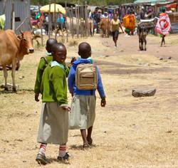 Visiting a traditional Masai village