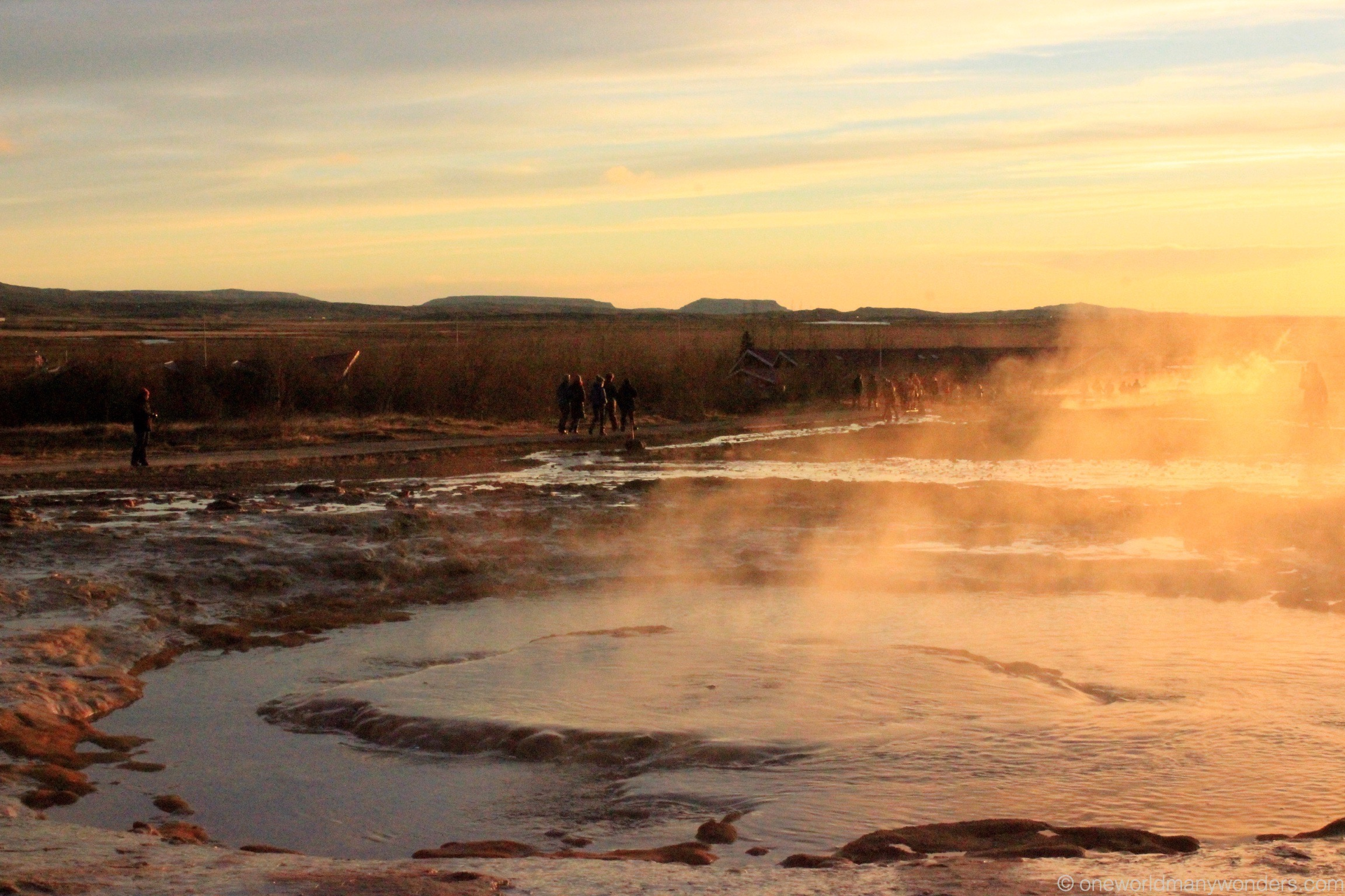 Hot springs at Golden Circle