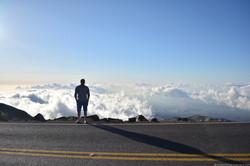Drive to Haleakala peak