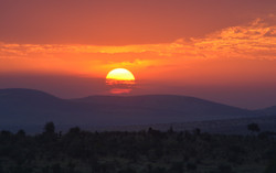 The glorious sundown of Africa