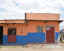 Butcher shop at a Masai village