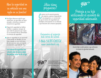 TMNCorp. AAA Child Passenger Safety brochure